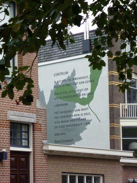 Muurgedicht, Schiedam, Zuid-Holland.