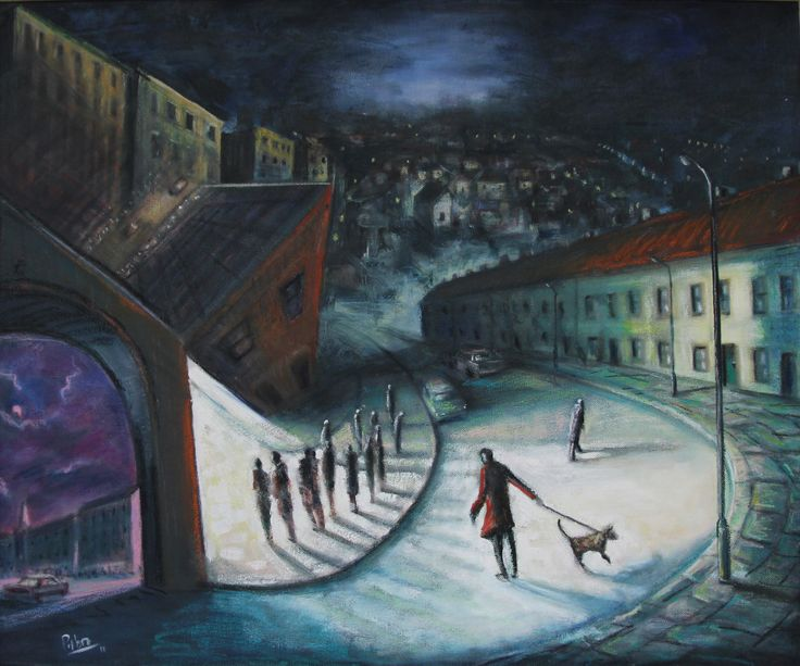 The Gathering, Tony Pilbro, oil on canvas, on loan from the Waterford Municipal Art Collection. Selected by Rose Keating.