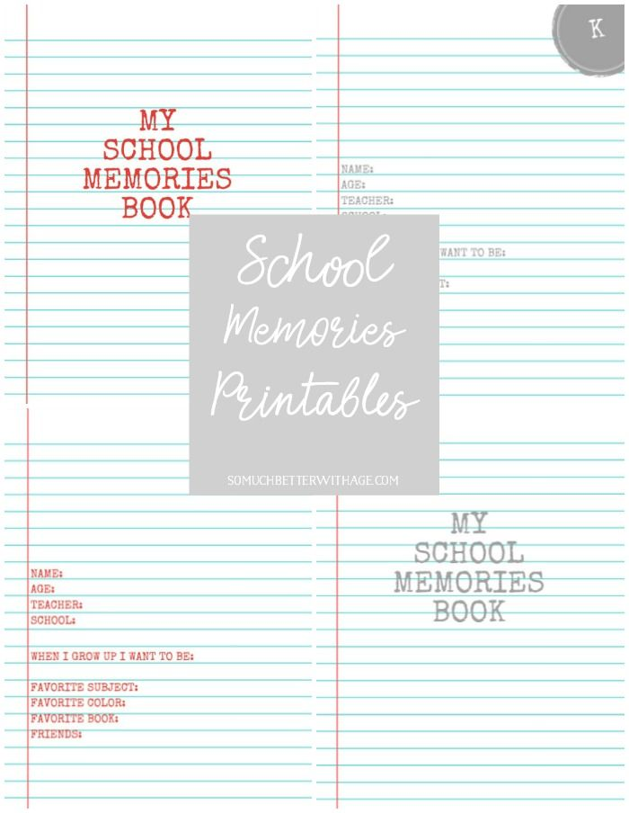 My School Memories Book - Free Printables K to Grade 12 | Free ...