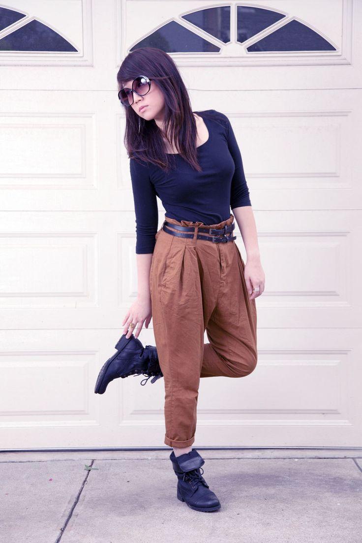 harem pants and combat boots | harem pants