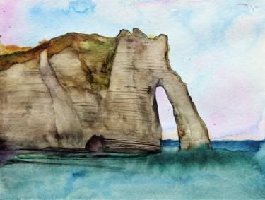 Igor Pose 'Sketch of the falaise d'Étretat'.  Etretat 2016