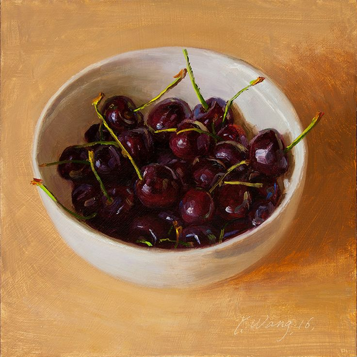 Youqing (Eugene) Wang | OIL | Cherries in a Bowl
