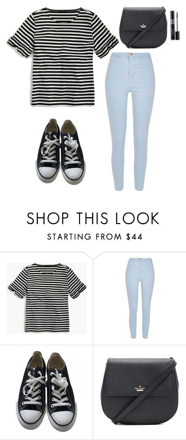 Untitled #3 by raven-blackk on Polyvore featuring J.Crew, River Island, Converse, Kate Spade and Christian Dior