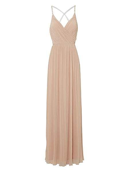 Diamante strap maxi dress