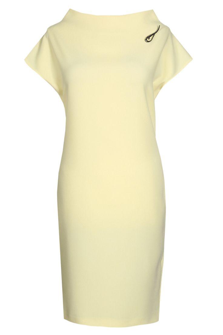 Sukienka FSU775 ŻÓŁTY JASNY