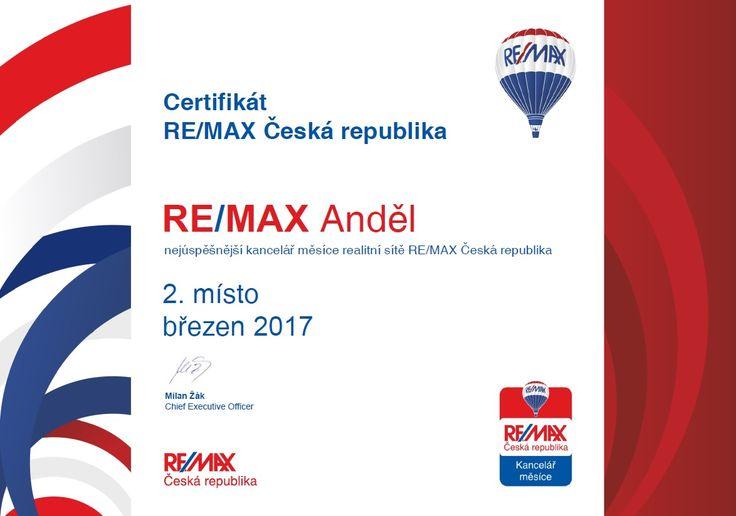 2. nejúspěšnější kancelář RE/MAX ČR za březen 2017