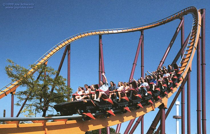 Great America's first indoor themed ride, sometimes in complete darkness and designed after the newest Batman movie from which it gets its name. Description from ltcstudentweb.com. I searched for this on bing.com/images