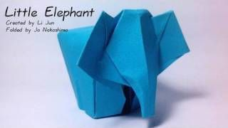 Adorablest Little Origami Elephant