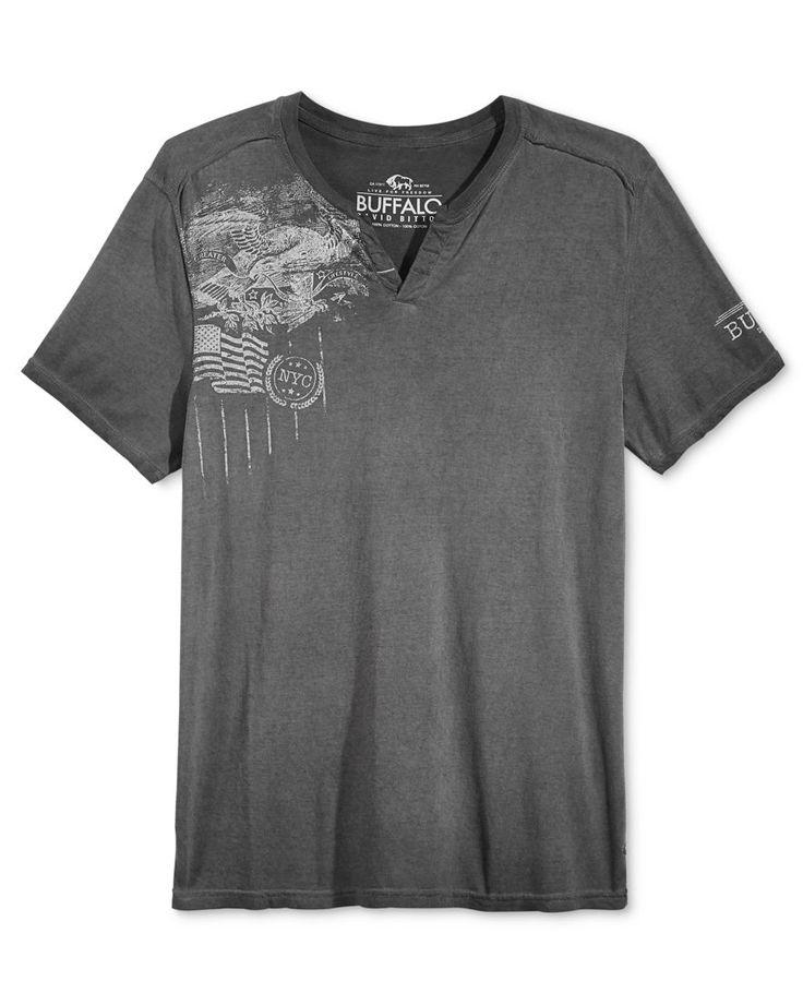 Buffalo David Bitton Men's Graphic-Print Henley T-Shirt