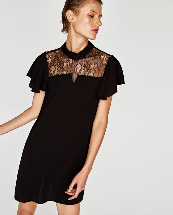 Image 5 of COMBINED CREPE DRESS from Zara