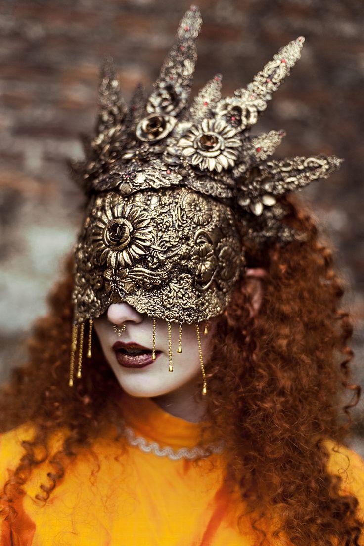 """Blind"" — Photographer: Sheridan's Art Mask/Halo: Hysteria Machine Makeup: Kika Macabre Model: Myrna Moonstruck"