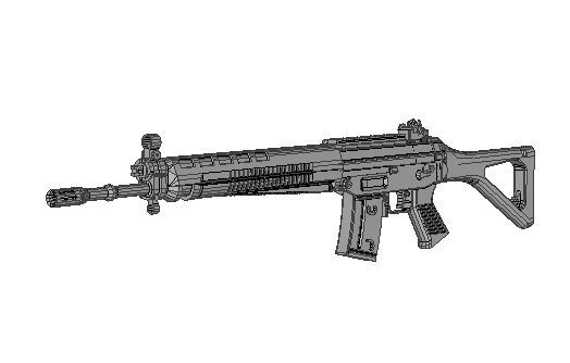 Full Size SIG SG 550 Assault Rifle Free Paper Model Download - http://www.papercraftsquare.com/full-size-sig-sg-550-assault-rifle-free-paper-model-download.html#11, #AssaultRifle, #FullSize, #Gun, #SIGSG550, #Sturmgewehr90