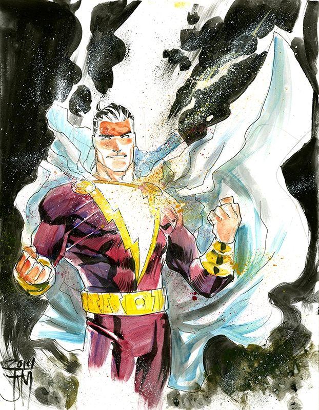 Shazam Aquaman Get New Magazine Covers: Captain Marvel By Francis Manapul