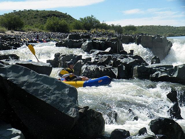 River rafting down the Orange River