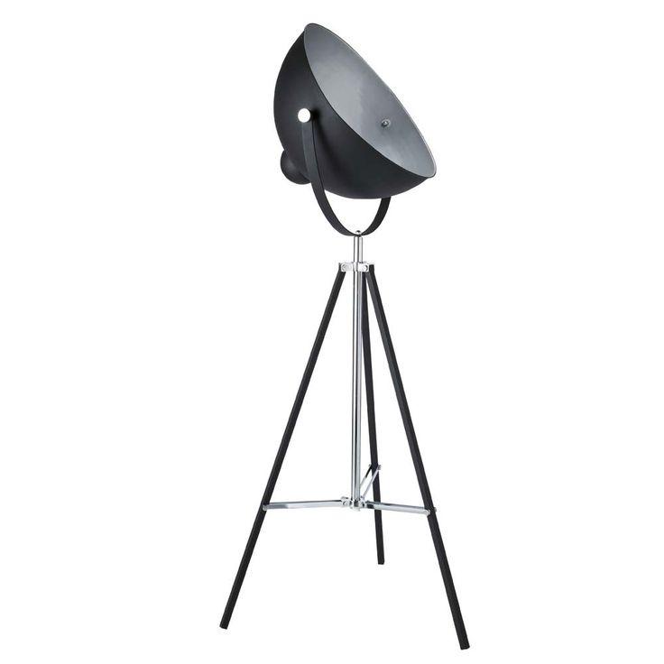 Zwarte metalen PHOTOGRAPHE statieflamp H 145 cm