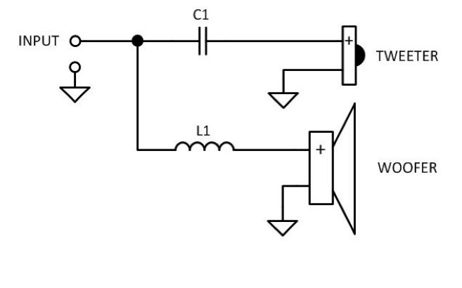 way passive crossover circuit diagram images of 2 way passive