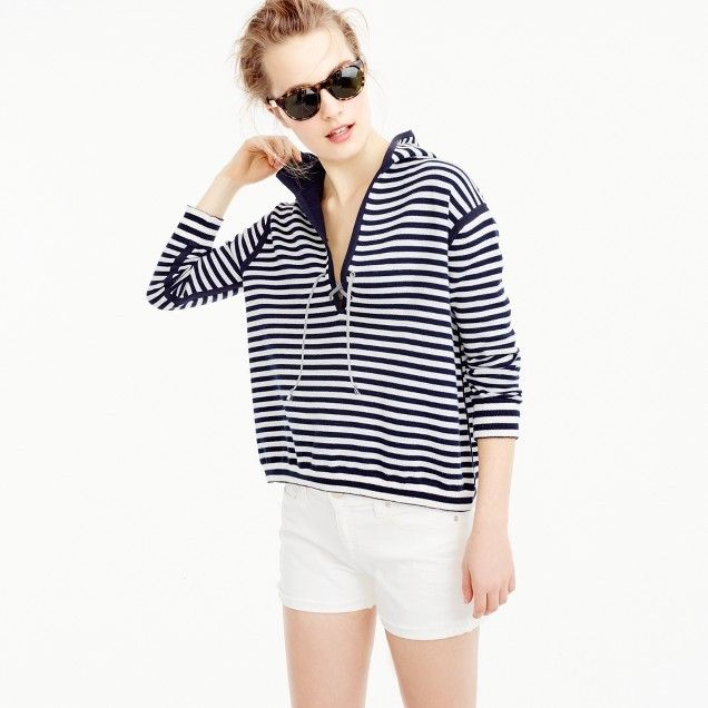 Reversible pullover in double-faced cotton | J.Crew