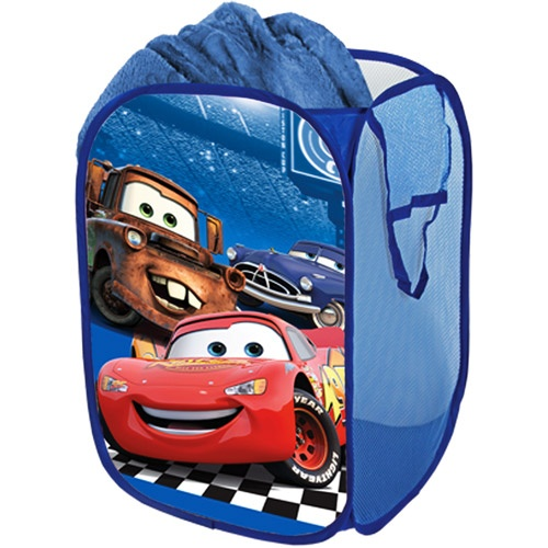 We have this Disney Cars pop-up hamper in red, but it was so not worth the price. Within the first week the handles ripped. They're still attached, but it's obviously made of cheap materials.