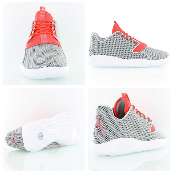 The new Jordan Eclipse light and breathable sneaker in grey and red