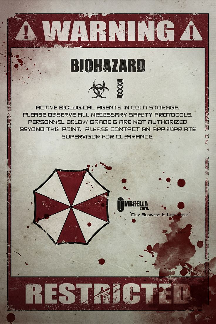 Resident Evil Advisory Poster - Submitted by Anthony Genuardi