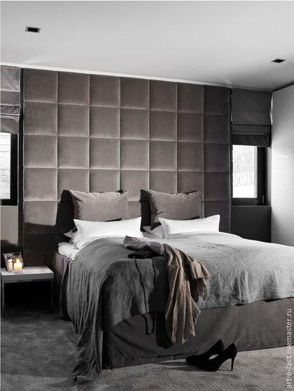Купить или заказать Мягкое изголовье и панели для кровати в интернет-магазине на Ярмарке Мастеров. Мягкий комплект для спального места. Мягкие панели для кровати.Эффектное Мягкое изголовье для кровати 220х265 см. 26 мягких квадратов по 44х44 см Любую Вашу кровать можно сделать с мягким изголовьем. Ткань на Ваш выбор. Даже 'выпуклость' подушек может быть разной: 'вогнутой, треугольниками, ромбами, волной и т.д. Форму панелей можно стилизовать под Ваши обои или мебель.…