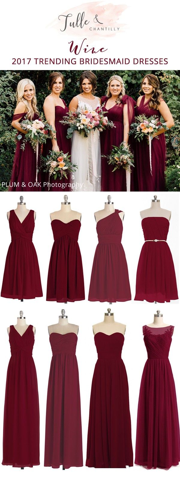 wine bridesmaid dresses for fall 2017