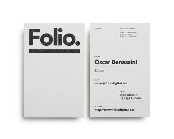 Folio. Identity Design by Face