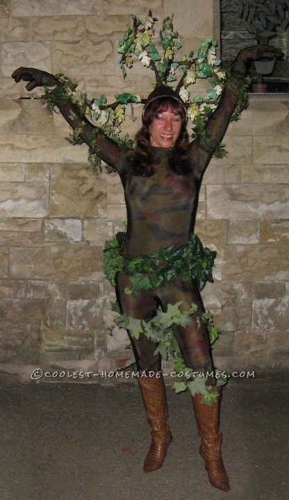 Coolest Homemade Oak Tree Costume