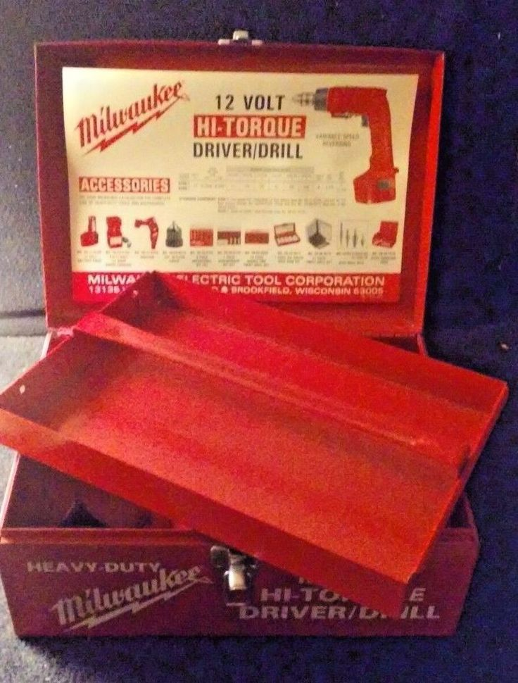 Milwaukee Metal Case 12V Drill Driver Metal Case with Tray Only! Power Tool Used #Milwaukee