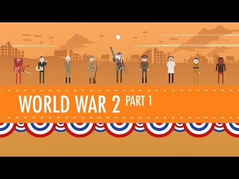 World War II Part 1: Crash Course US History #35 very fast paced, and hugely summarized, but interesting nonetheless.