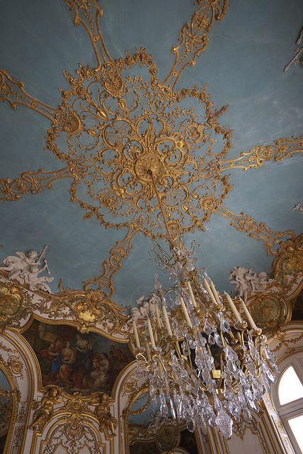Ceiling in the Hôtel de Soubise, Paris, France