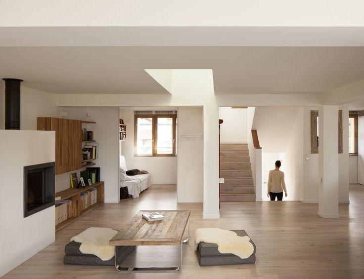 Oak Floors And Skylight In Renovation By Djuric Tardio Architectes Prefab HomesSkylightsHome Interior DesignHome InteriorsEco Friendly