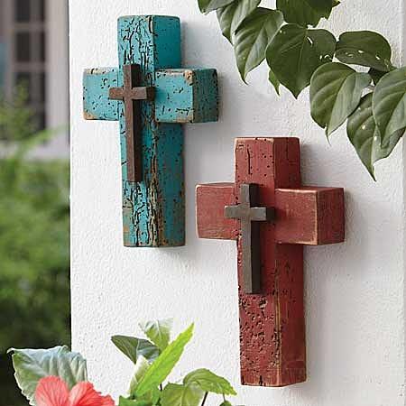 Weathered wood crosses