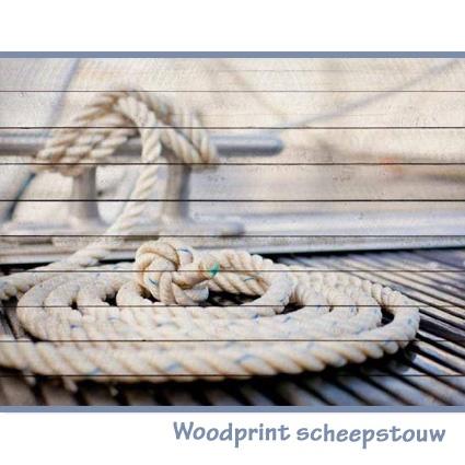 Woodprint scheepstouw   (verkrijgbaar via Claessens Styling)