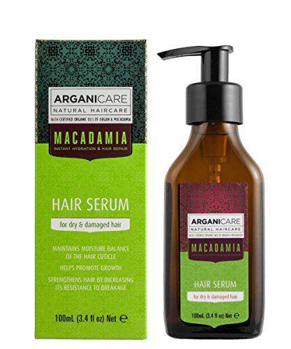 Arganicare Macadamia Hair Serum for Dry and Damaged Hair with Organic Argan Oil and Macadamia Oil (3.4 Fluid Ounce) - http://essential-organic.com/arganicare-macadamia-hair-serum-for-dry-and-damaged-hair-with-organic-argan-oil-and-macadamia-oil-3-4-fluid-ounce/