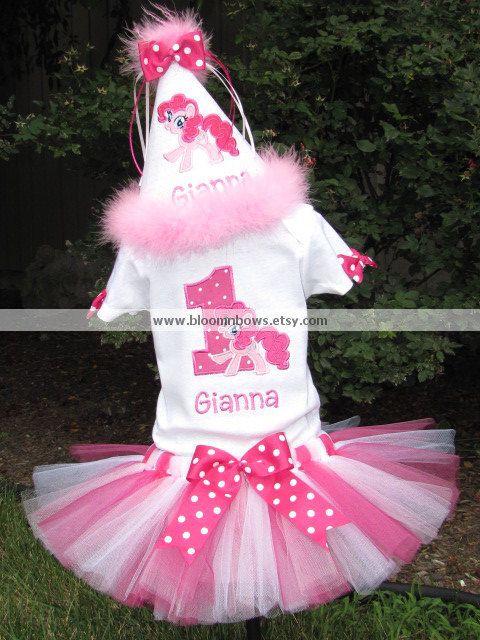 My Little Pony Pinkie Pie Birthday Shirt or Onesie by bloomnbows
