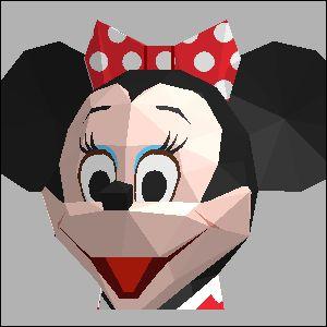 ミニーマウス・ディズニーの展開図 似顔絵 無料 ダウンロード ペーパークラフトファン