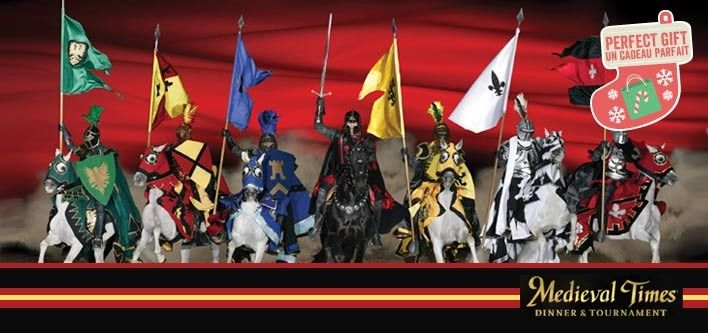 Come all ye knights in shining armour, it's time to indulge in an evening of epic battles and delicious feasts with today's exclusive GET ACCESS deal from Medieval Times:    Valid for Shows until Jan. 31st  $38 for a 4-Course Dinner and Adult Show Ticket ($63.95 value) $28 for a 4-Course…