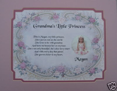 Grandma's little princess poem birthday, christmas, mother ...