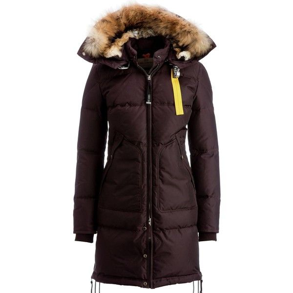 Parajumpers Long Bear Down Jacket (1,000 CAD) ❤ liked on Polyvore featuring outerwear, jackets, parajumper jacket, insulated jackets, slim fit jackets, water resistant hooded jacket and long hooded jacket