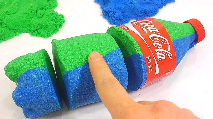 Learn  Colors Kinetic Sand Coca Cola Jelly Slime Icecream - DIY How To Make
