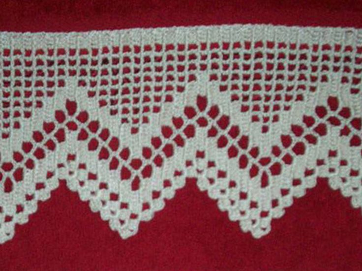 Pin Puntillas Crochet Grafico Una Puntilla Para Mantita on Pinterest