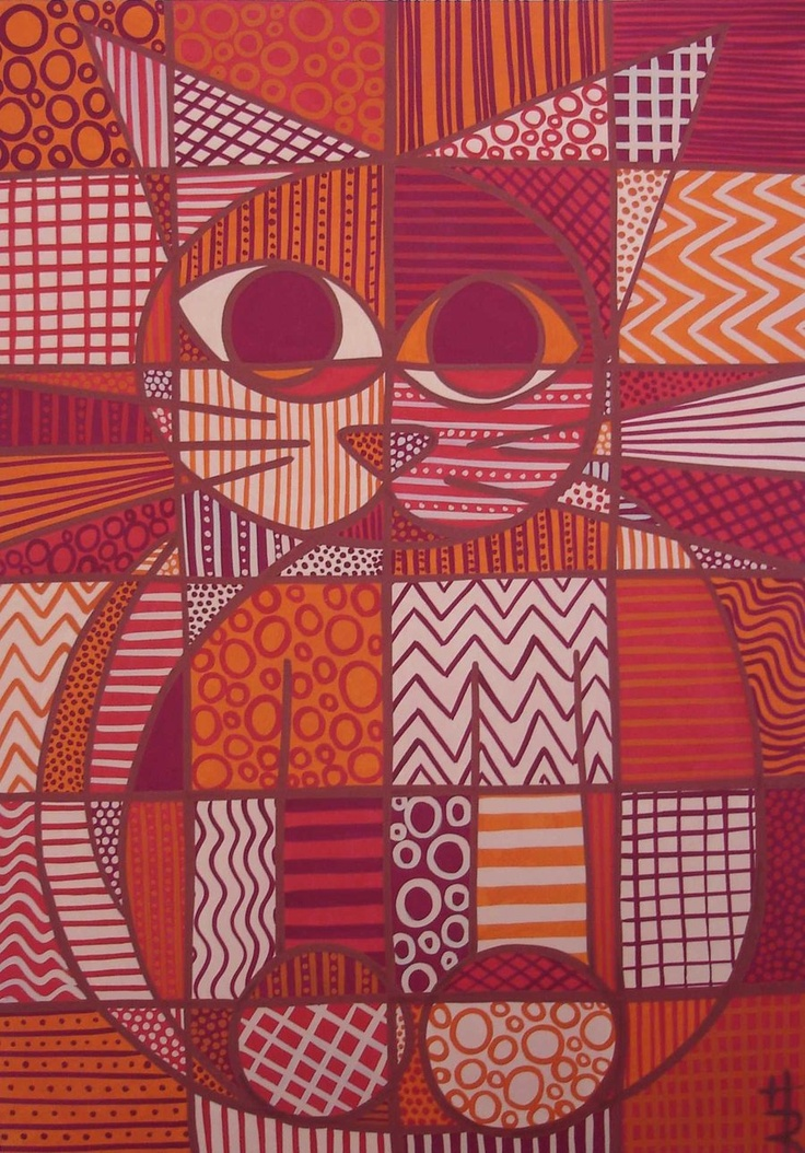 infernal cat painting by *essencestudios