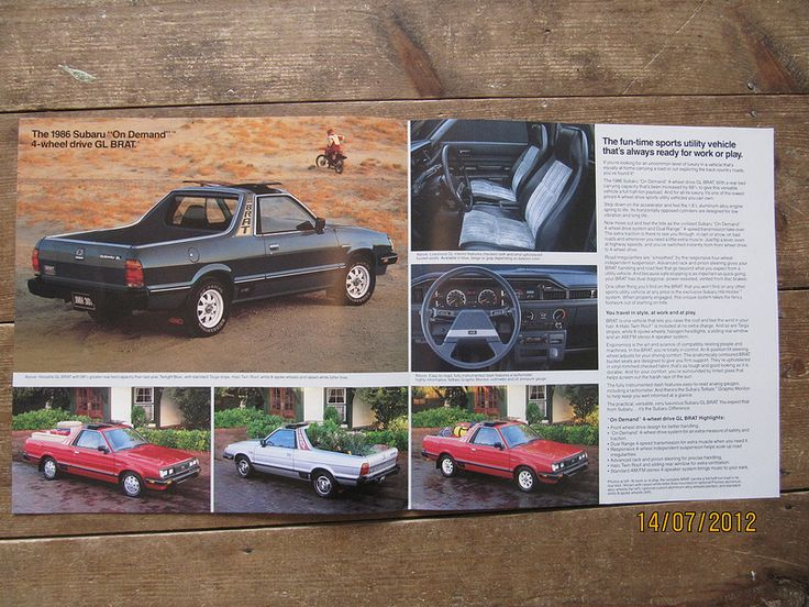 American Subaru BRAT brochure from 1986 pages 2 and 3 | by Sholing Uteman