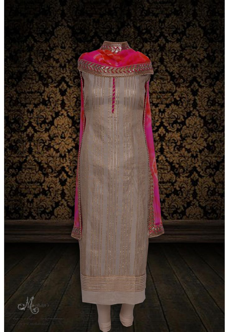 Ethereal skin suit adorn in ethnic gota work
