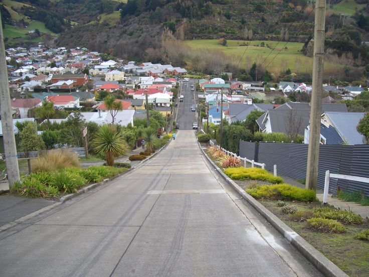 Dunedin, NZ. Steepest road in NZ.