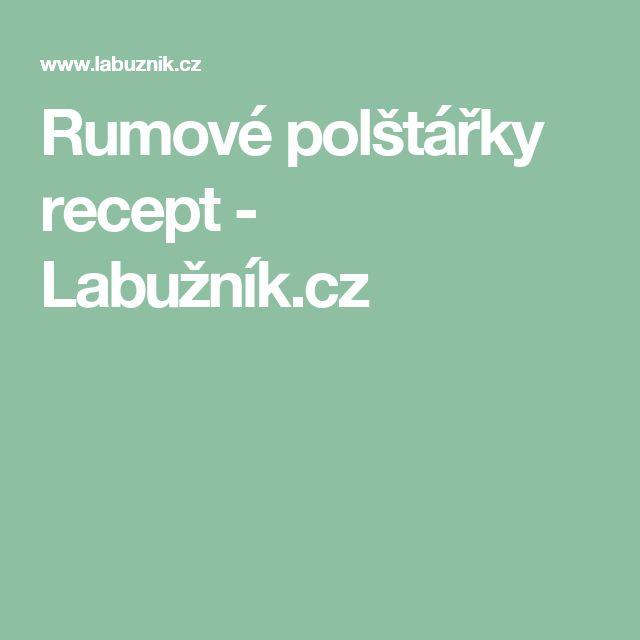 Rumové polštářky recept - Labužník.cz
