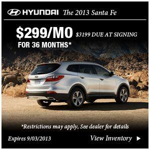 Hyundai Santa Fe Lease Special