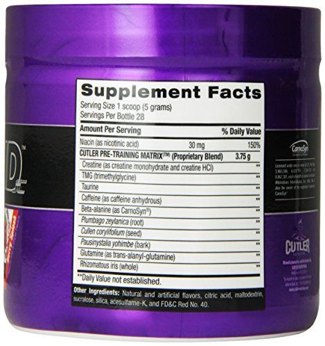 Cutler Nutrition Legend Pre Workout Energy Formula