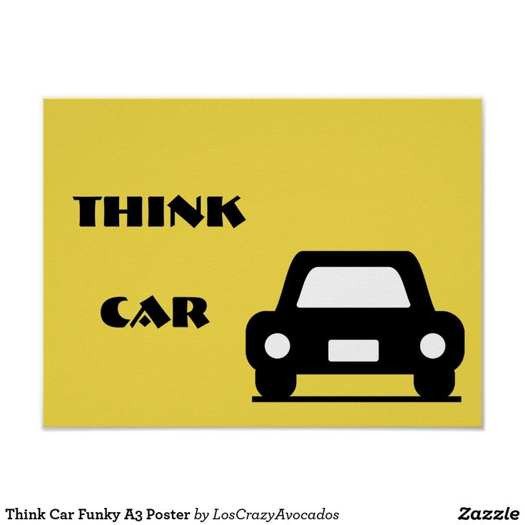 Think Car Funky A3 Poster